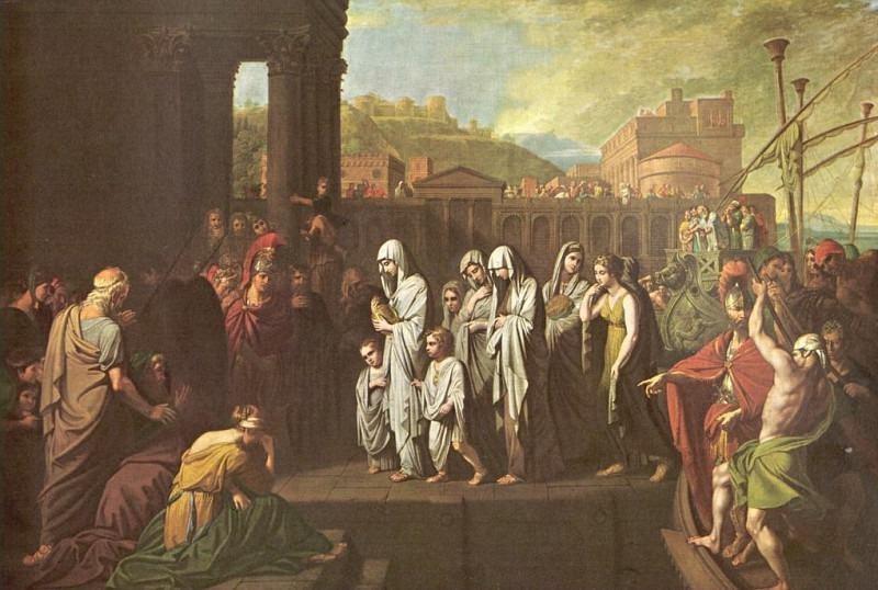 Agrippine Landing In Brindisi with the Germanicus' Ashes. Benjamin West