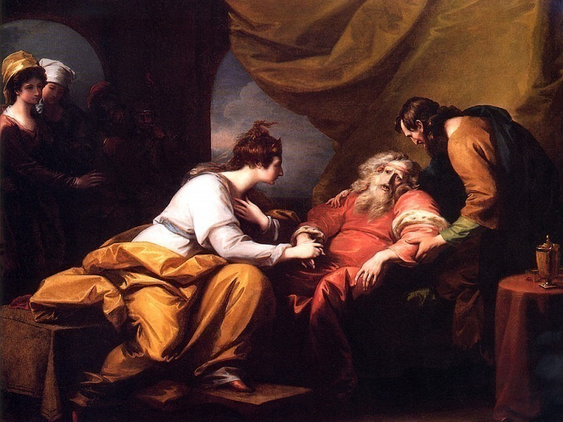 Lear And Cordelia. Benjamin West