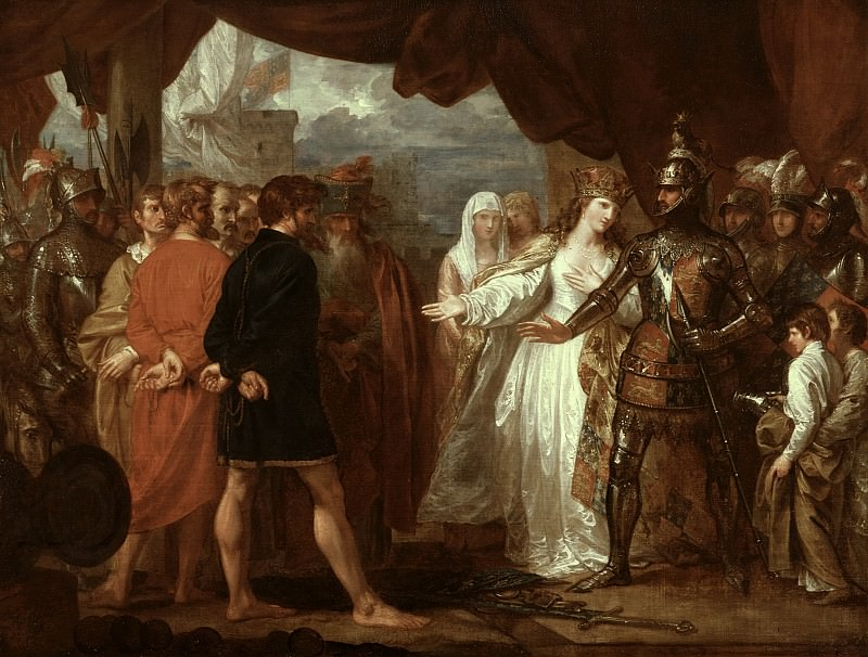 Queen Philippa Interceding for the Lives of the Burghers of Calais. Benjamin West
