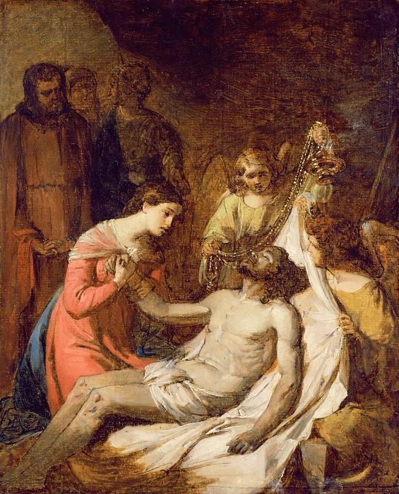 Плач на Мертвом Христе (набросок). Бенджамин Уэст