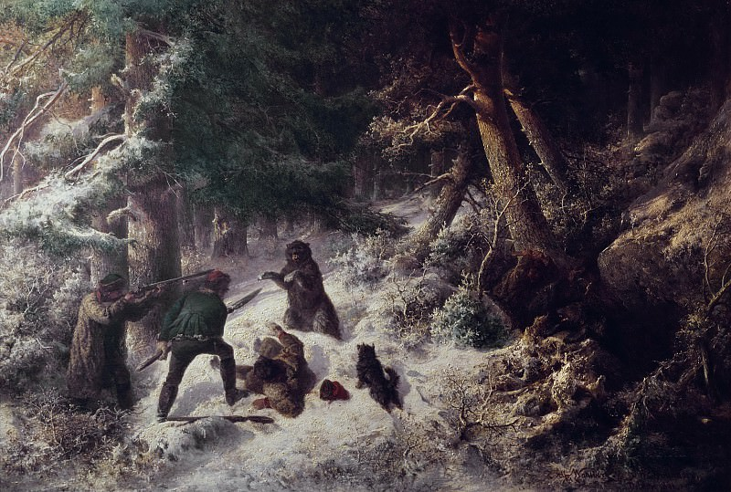 Bear-Hunting in the Winter. Alfred Wahlberg
