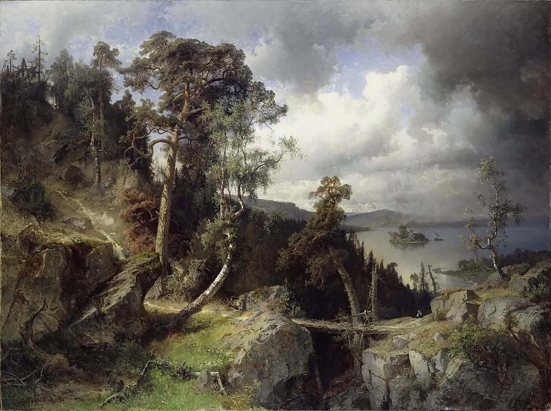 Swedish Landscape. Motif from Kolmården. Alfred Wahlberg