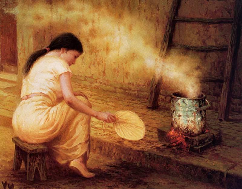 Yu Xiaoyang - Femme, Eventail et Feu, De. Сяо Ян Ю