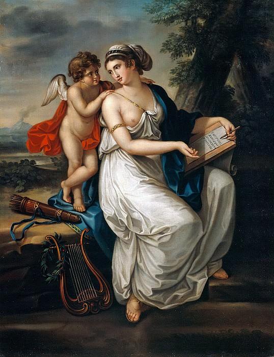Sappho and Cupid. Johann August Nahl the Younger