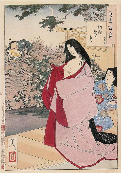 099 A Glimpse of the Moon Kaimani no tsuki. Yoshitoshi