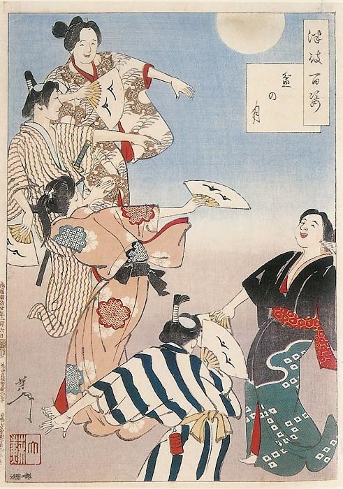 078 Bon Festival Moon Bon no tsuki. Yoshitoshi