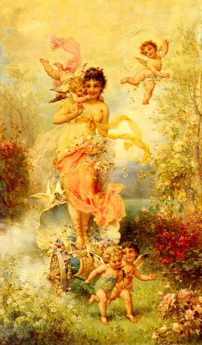 The Goddess Of Spring. Hans Zatzka