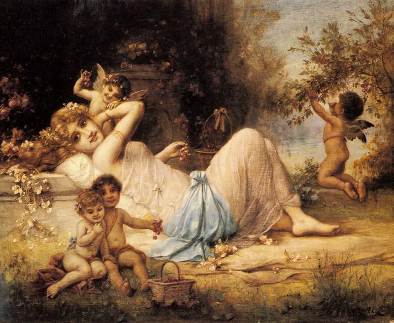 Zatzka Hans Venus And Her Attendants. Ханс Зацка