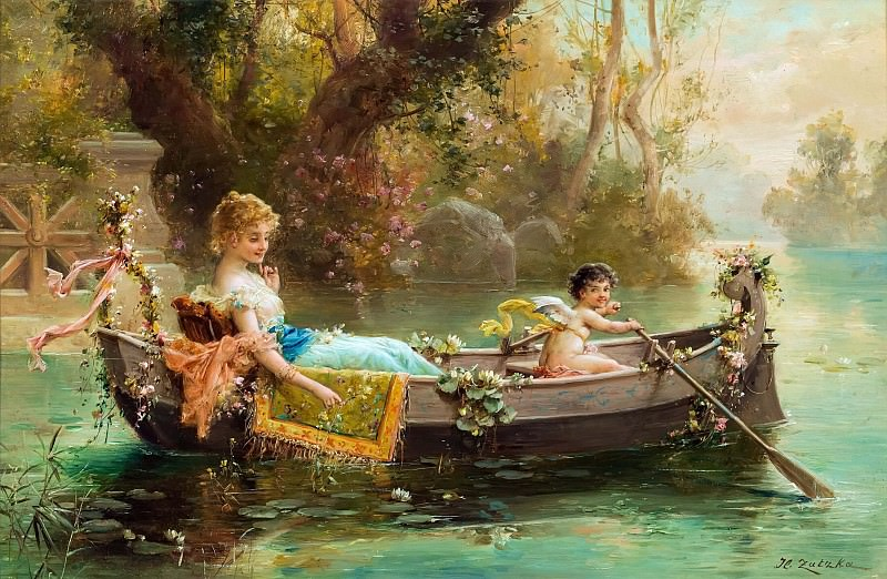 Boat trip with Cupid. Hans Zatzka