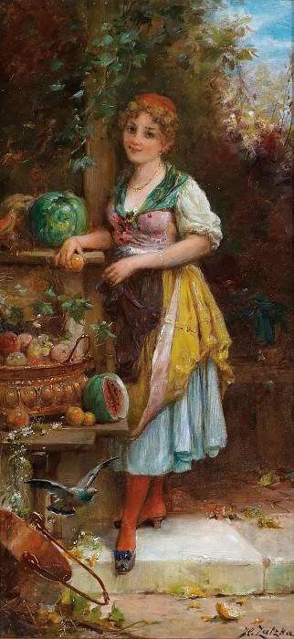 Fruit Seller. Hans Zatzka