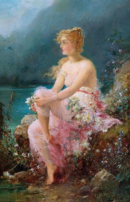 Water Lilies. Hans Zatzka