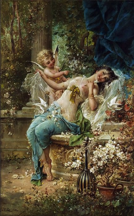 Winning Cupid. Hans Zatzka