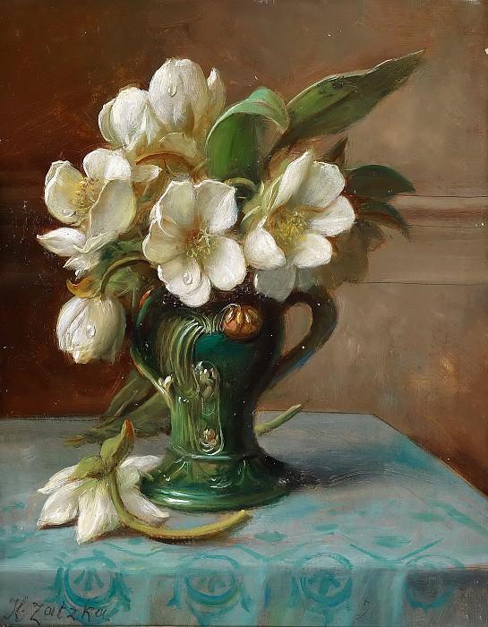 Peonies in a Vase. Hans Zatzka