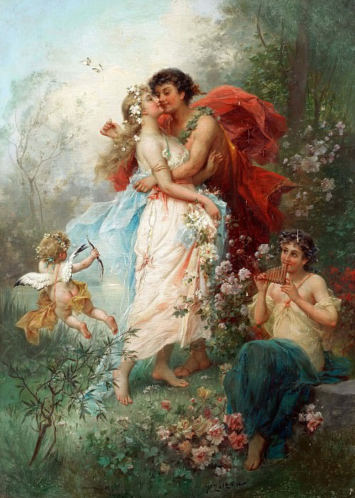 Oath of love. Hans Zatzka