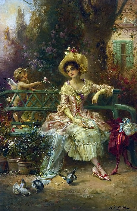 THINKING OF HIM. Hans Zatzka