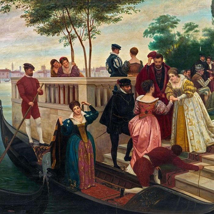 Сценка в Венеции. Ханс Зацка