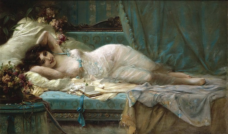 RECLINING WOMAN. Hans Zatzka
