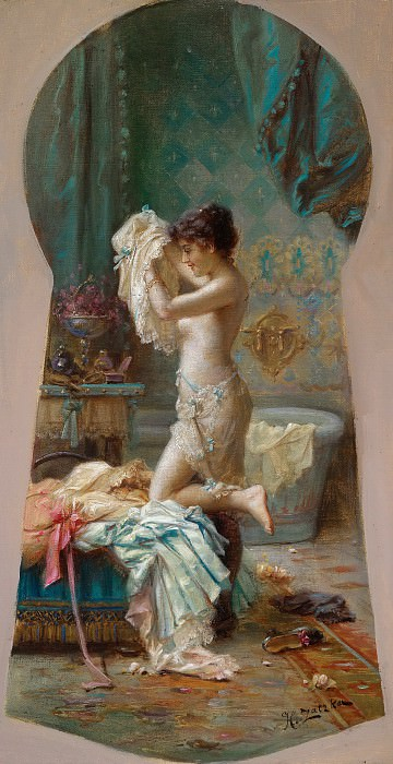 Through the Keyhole. Hans Zatzka