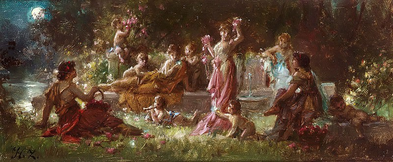 A mythological scene. Hans Zatzka
