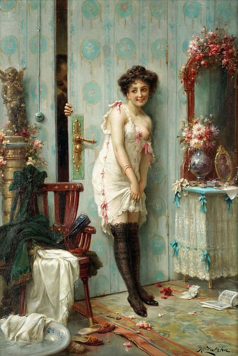 The amorous visitor. Hans Zatzka