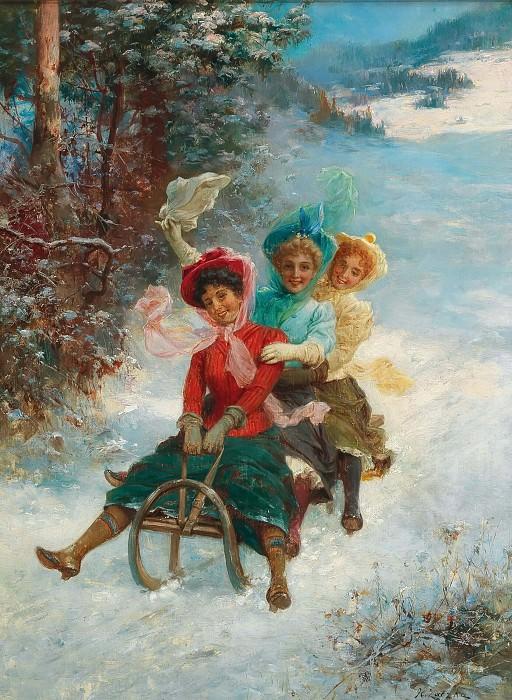 The sledge ride. Hans Zatzka