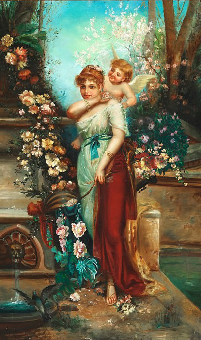 Venus and Amor. Hans Zatzka
