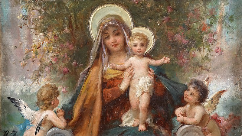 Madonna and the Infant Jesus. Hans Zatzka