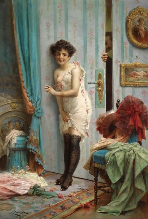 Not to step inside. Hans Zatzka