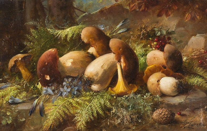 Still Life with Forrest Fruit. Hans Zatzka