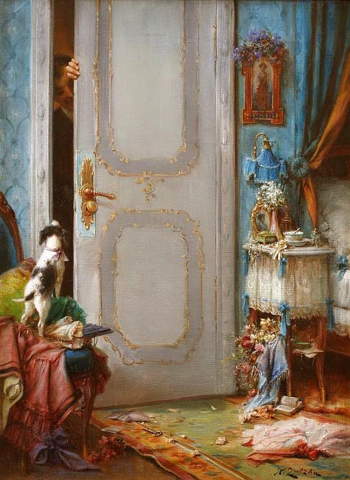 Whats Behind The Door. Hans Zatzka