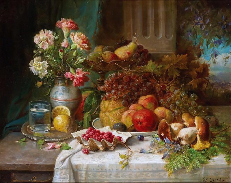 Autumnal Still Life with Boletus. Hans Zatzka