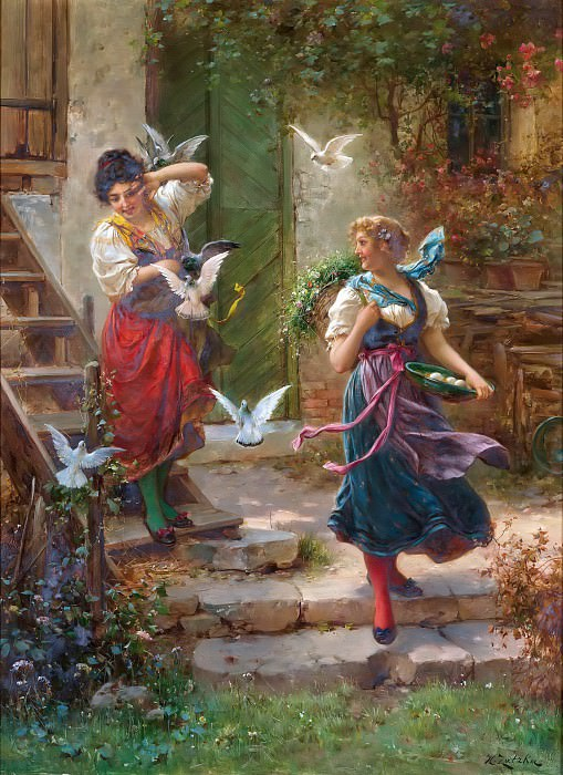 Who others a pit digs. Hans Zatzka