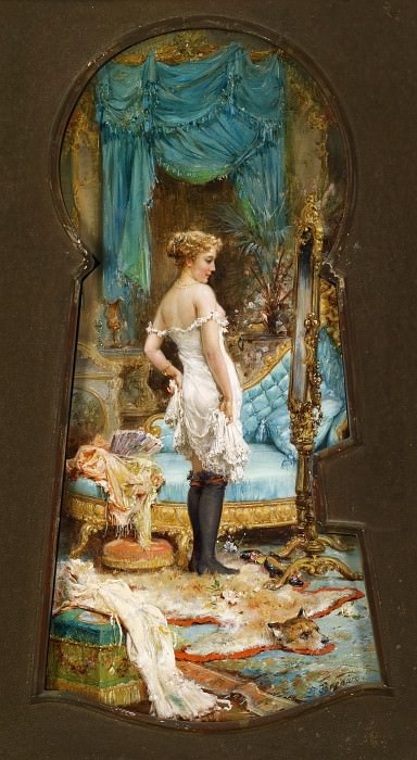 Seen Through the Keyhole. Hans Zatzka