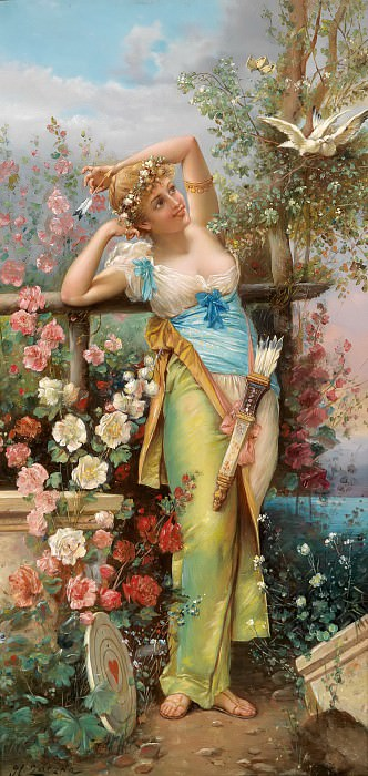 The Messenger of Love. Hans Zatzka