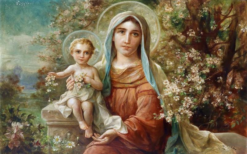 Madonna with Child. Hans Zatzka