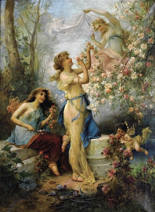 Венера с путто и спутницами. Ханс Зацка