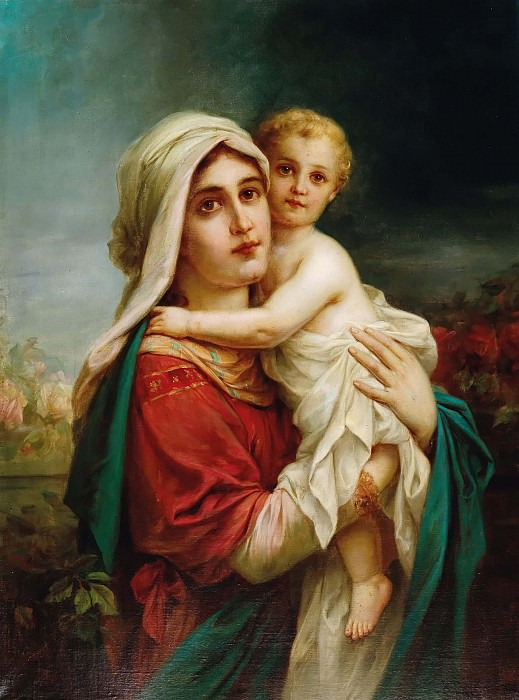 Madonna with Child. Hans Zatzka
