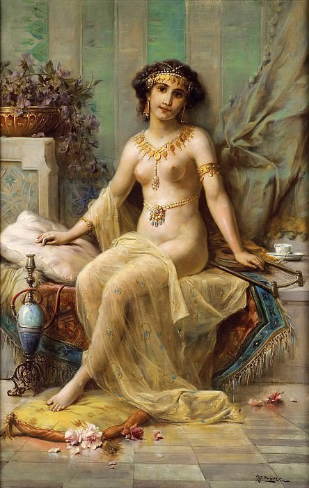 THE ODALISQUE. Hans Zatzka