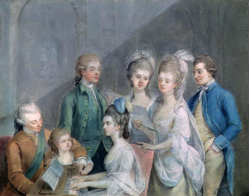 Семья Чарльза Шоу, 9-го Барона Кеткарта (1721-76). Иоганн Цоффани