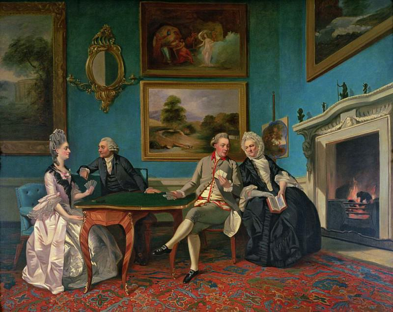 The Dutton Family in the Drawing Room of Sherborne Park, Gloucestershire. Johann Zoffany