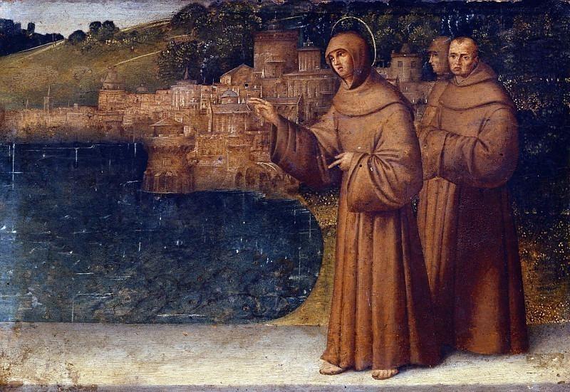 Святой Антоний Падуанский проповедует ловить рыбу. Франческо Заганелли