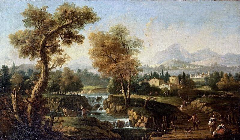 Пейзаж с ручьём недалеко от города. Франческо Зуккарелли