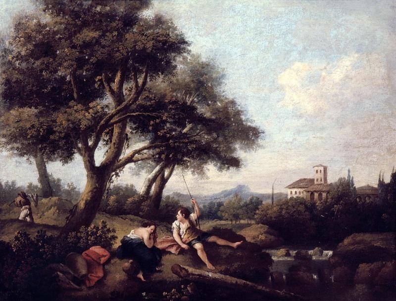 Пейзаж с отдыхающими крестьянами. Франческо Зуккарелли