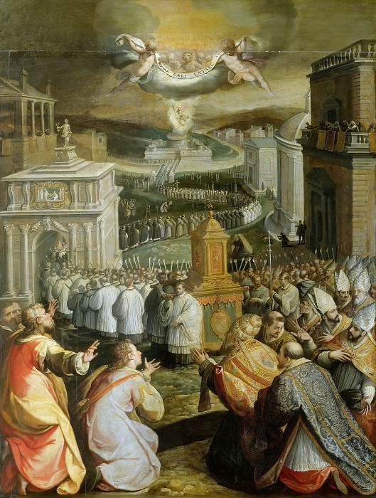 Procession of Saint Gregory the Great. Jacopo Zucchi