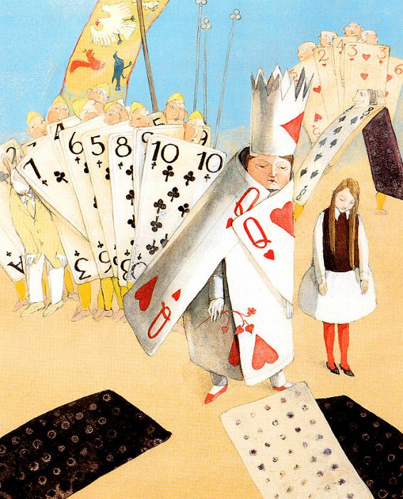 Aw 013 The Queen of Hearts LisbethZwergert sqs. Лисбет Цвергерт