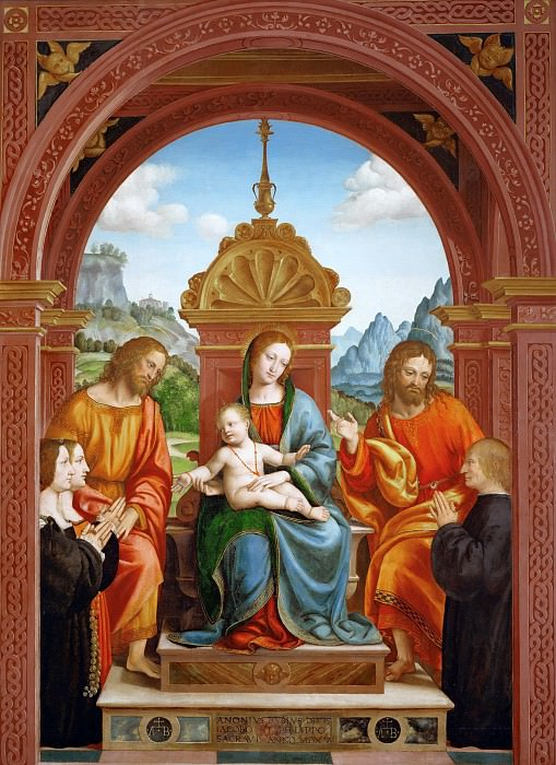 Virgin and Child with saints and donors, members of the Busti family. Bernardo Zenale