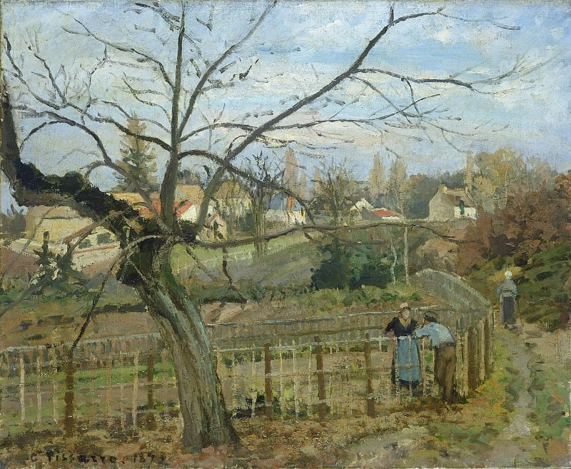 Camille Pissarro - The Fence. National Gallery of Art (Washington)