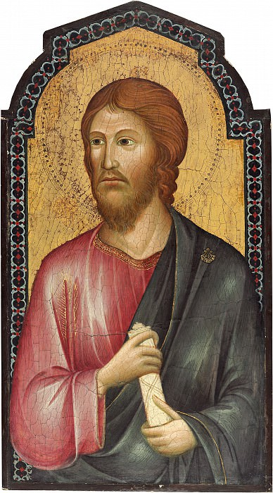 Follower of Cimabue - Christ between Saint Peter and Saint James Major. National Gallery of Art (Washington) (right panel)
