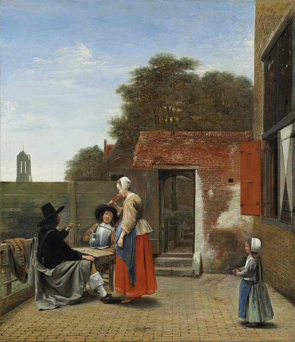 Pieter de Hooch - A Dutch Courtyard. National Gallery of Art (Washington)