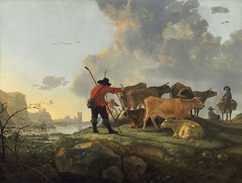 Aelbert Cuyp - Herdsmen Tending Cattle. National Gallery of Art (Washington)